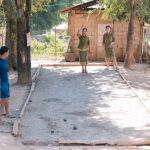 A game of petanque, Nong Khiaw